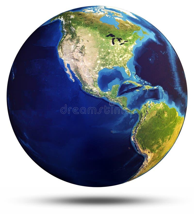 Wiedergabe der Planeten-Erdkugel 3d vektor abbildung