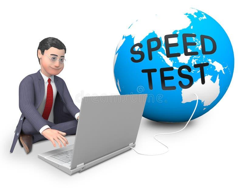 Wiedergabe der Verbindungsgeschwindigkeits-Test-Leistungs-Zunahme-3d vektor abbildung