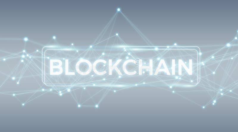 Wiedergabe des Blockchain-Verbindungshintergrundes 3D lizenzfreie abbildung