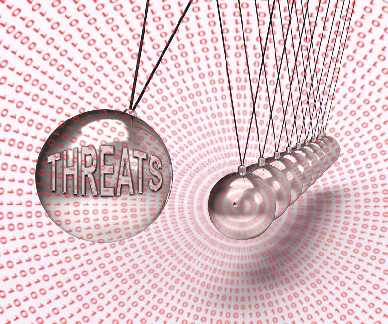 Wiedergabe des Cybersecurity-Drohungen Cyber-Verbrechen-Risiko-3d stock abbildung