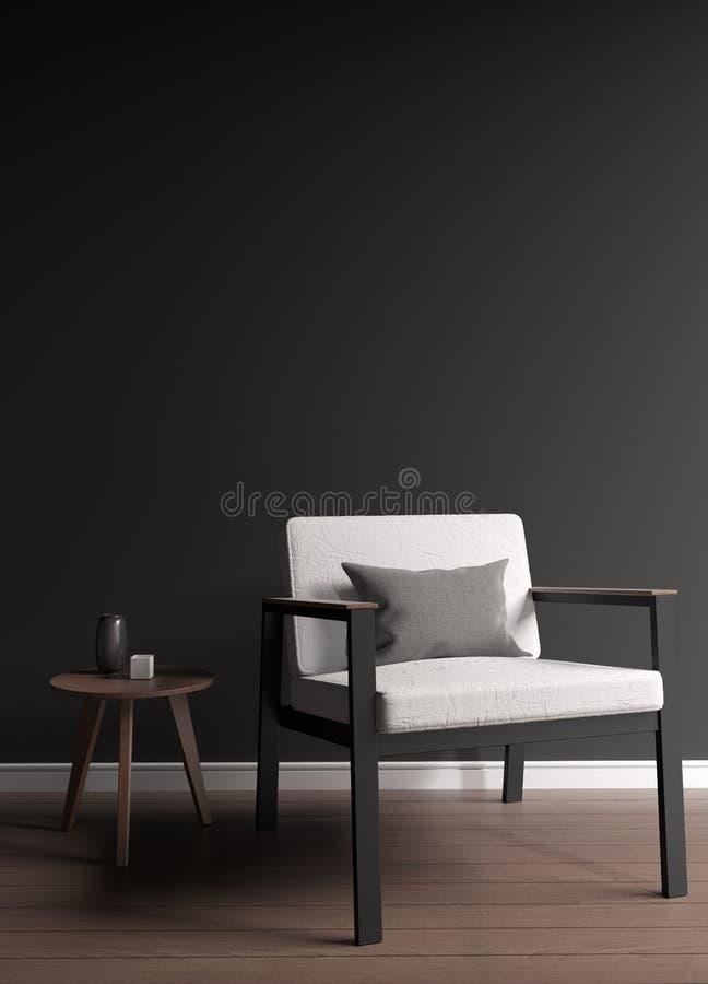Wiedergabe des Dachbodenlehnsessels 3d stockfoto
