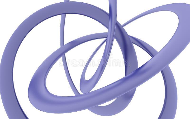 Wiedergabe des verbogenen violetten Helixes stockbild