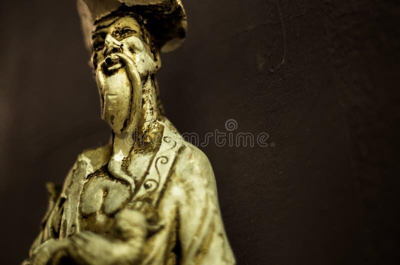 Wiedergabe einer Statue von Konfuzius stockfoto