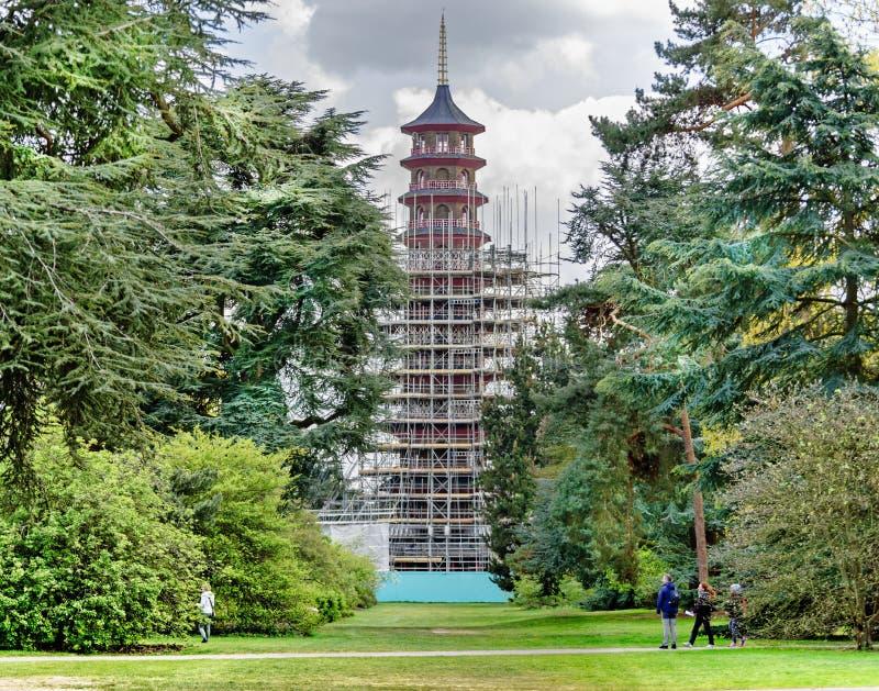 Wiederherstellung der großen Pagode an Kew-Gärten stockfotografie