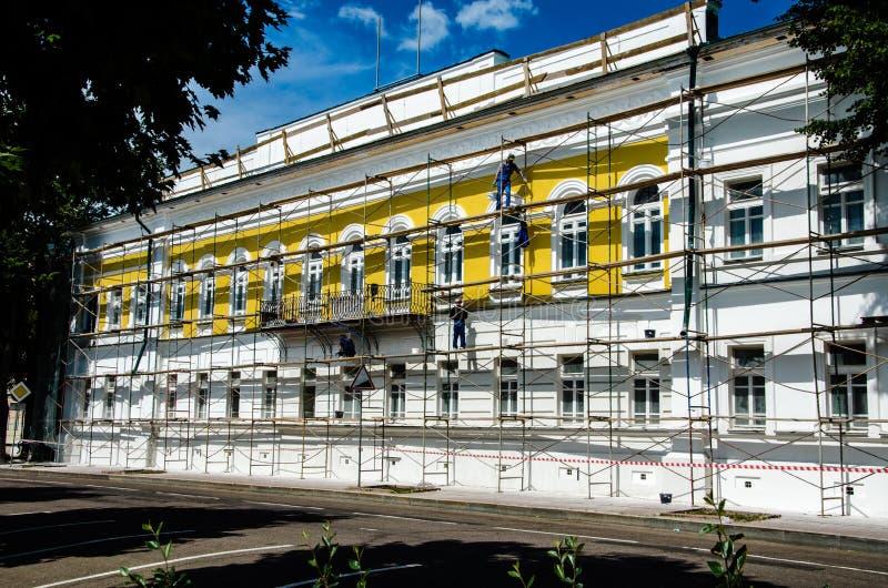 Wiederherstellung des Gebäudes lizenzfreie stockfotos