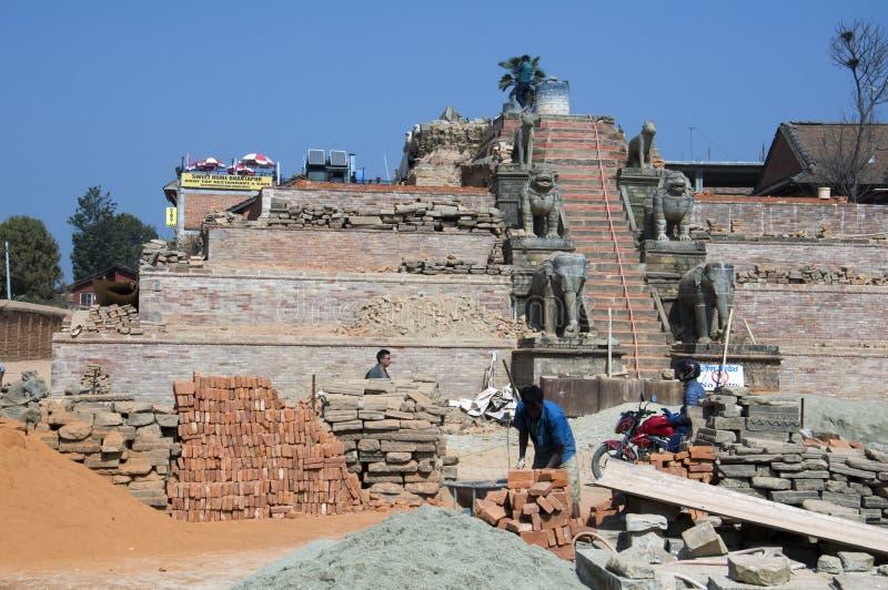 Wiederherstellung des Tempels stockfotos