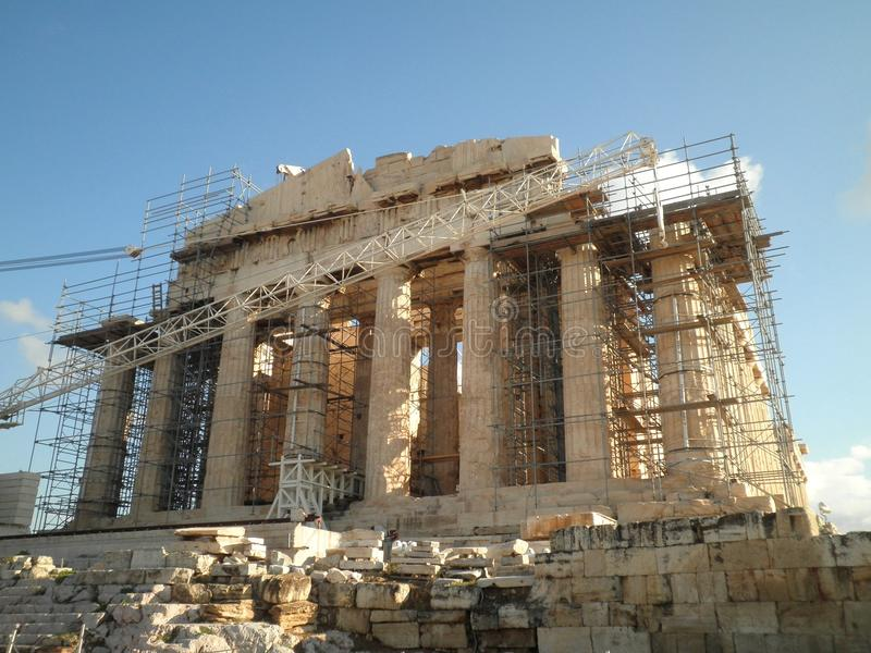 Wiederherstellungs-Athen-Tempel-Erneuerung stockbild
