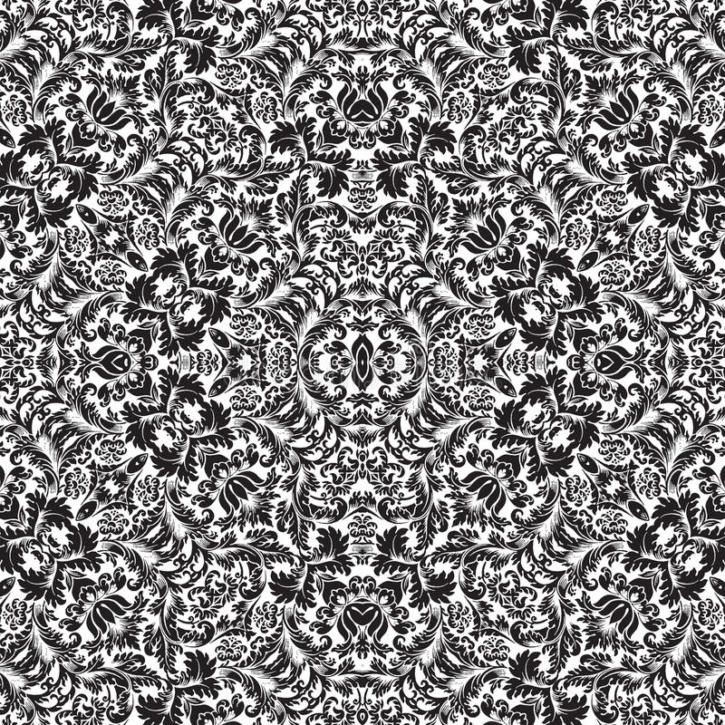 Wiederholbares Damast Muster-nahtloser Hintergrund vektor abbildung