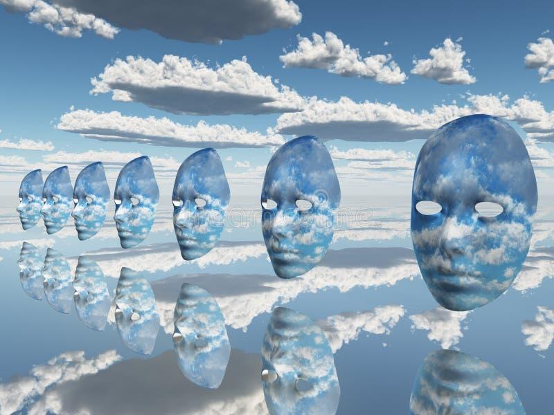 Wiederholen der Gesichter der Wolken lizenzfreie abbildung