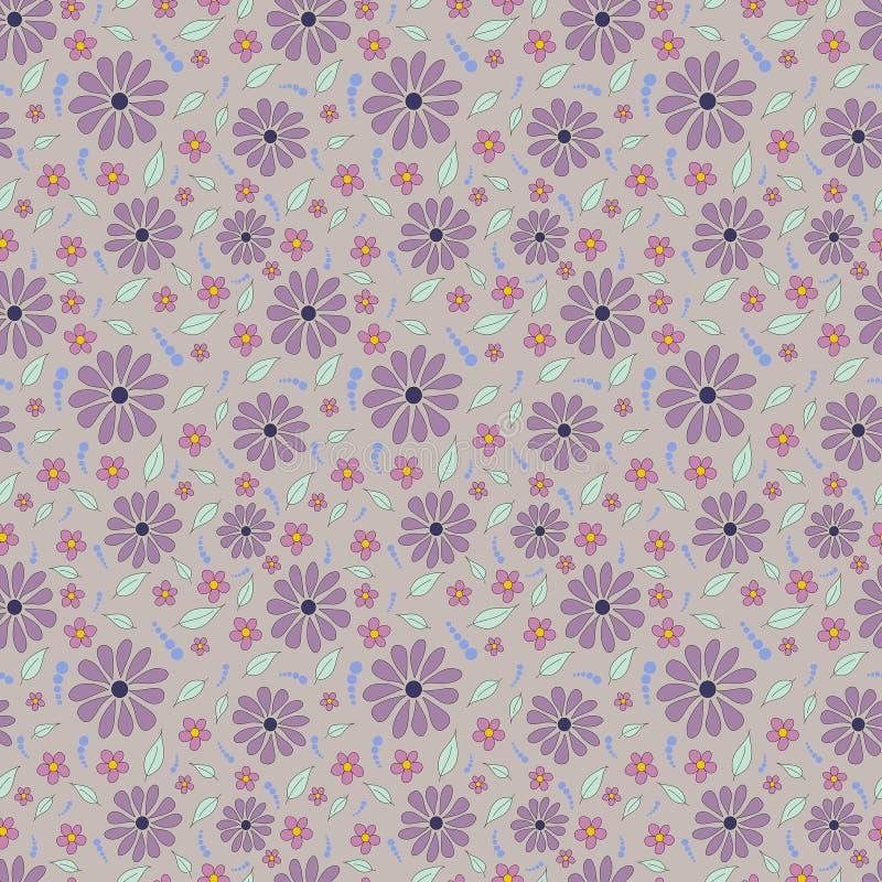 Wiederholen des Frühlings-Blumen-Musters lizenzfreies stockbild