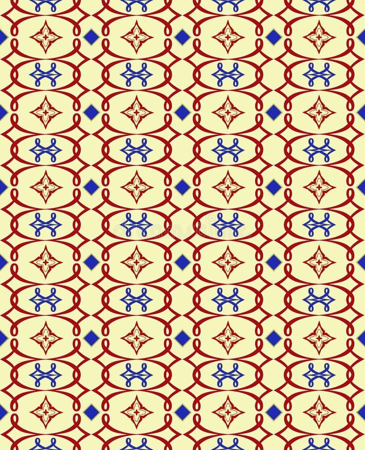 Wiederholen des Kastanienbrauns u. des Blaus vektor abbildung