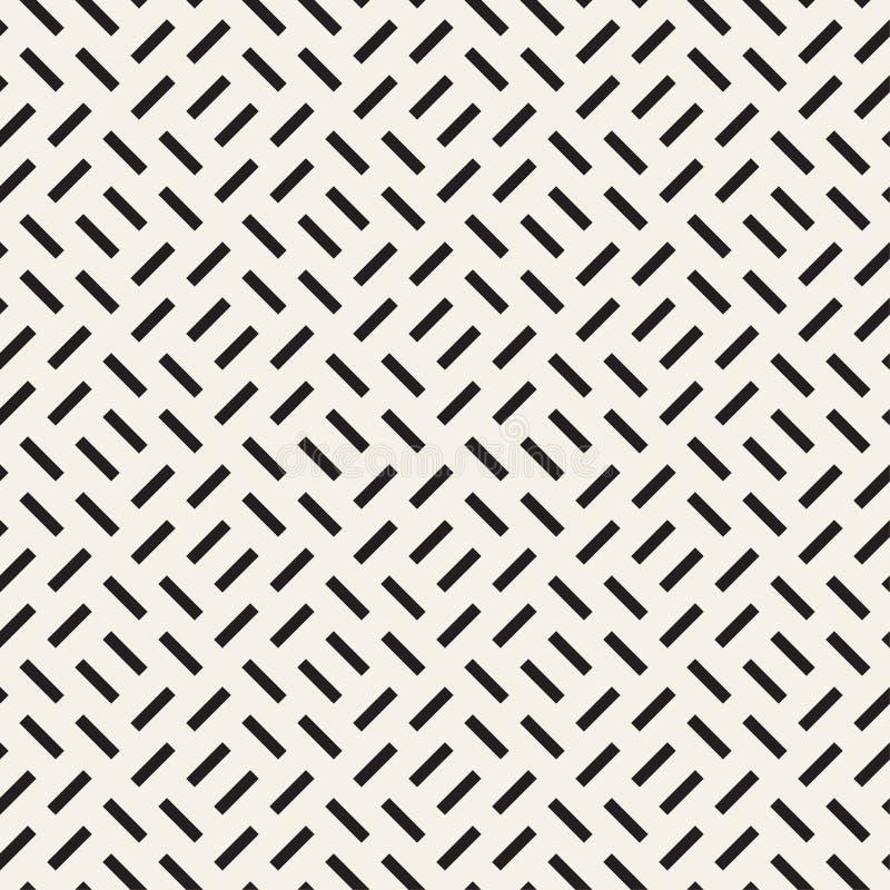 Wiederholen des Rechteck-Halbtons Moderne geometrische Gitter-Beschaffenheit Nahtloses einfarbiges Muster des Vektors vektor abbildung