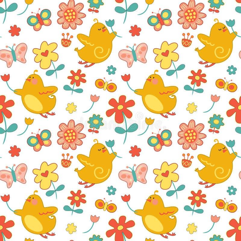 Wiederholen Sie Frühlings-Muster lizenzfreie abbildung
