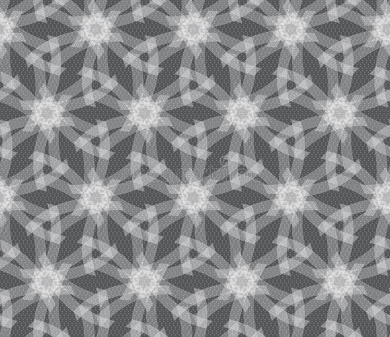 Wiederholen von weißen linearen Sternen der Verzierung lizenzfreie abbildung