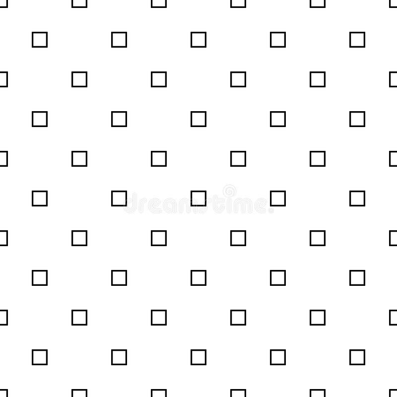 Wiederholendes abstraktes quadratisches Schwarzweiss-Muster - vector Hintergrunddesign stock abbildung
