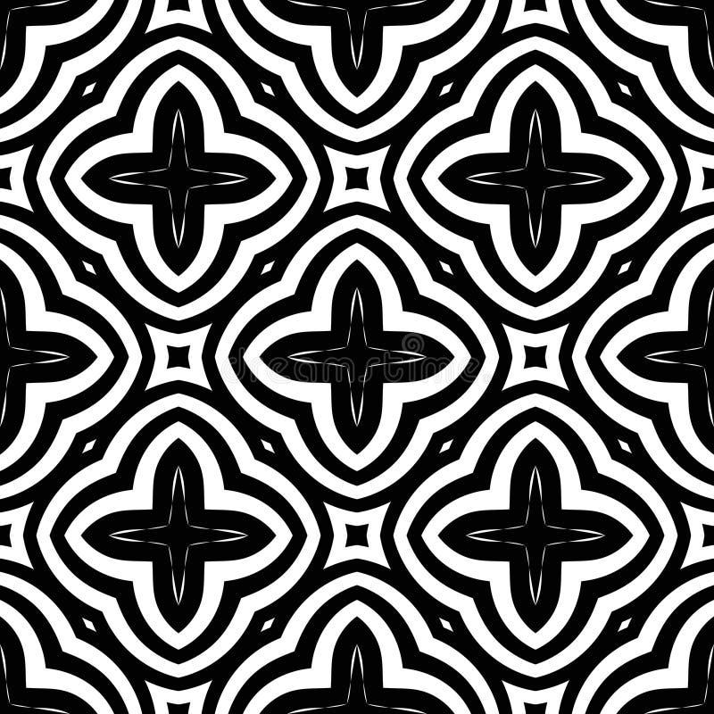 Wiederholte Schwarzweiss-Muster des abstrakten Vektors vektor abbildung