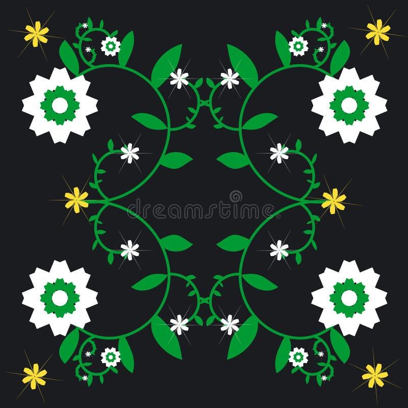 Wiederholter Blumen-Hintergrund lizenzfreie abbildung