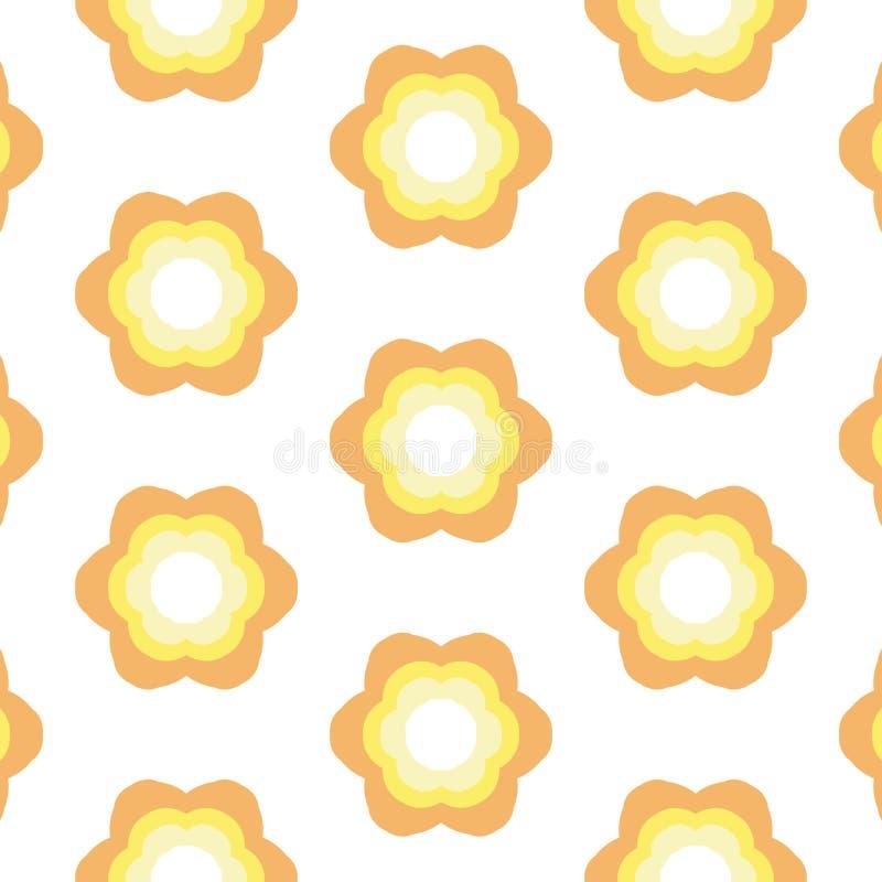 Wiederholter Blumen-Hintergrund vektor abbildung