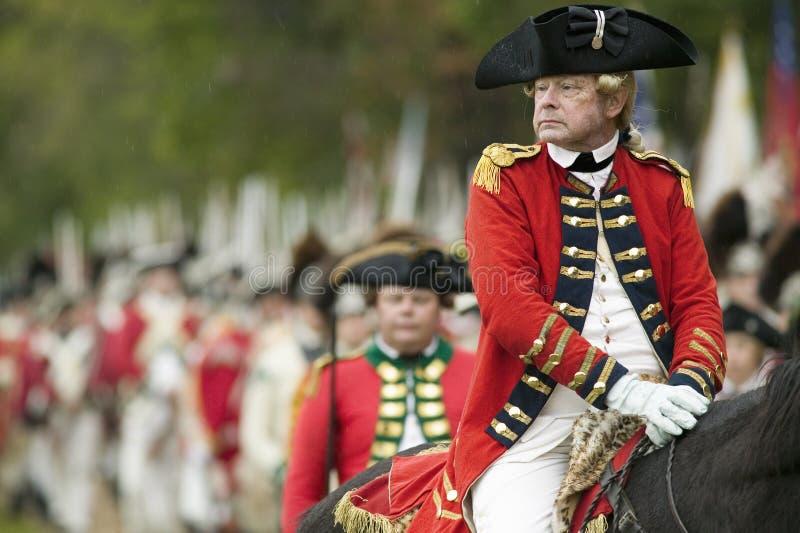 Wiederinkraftsetzung der Belagerung von Yorktown lizenzfreie stockfotos