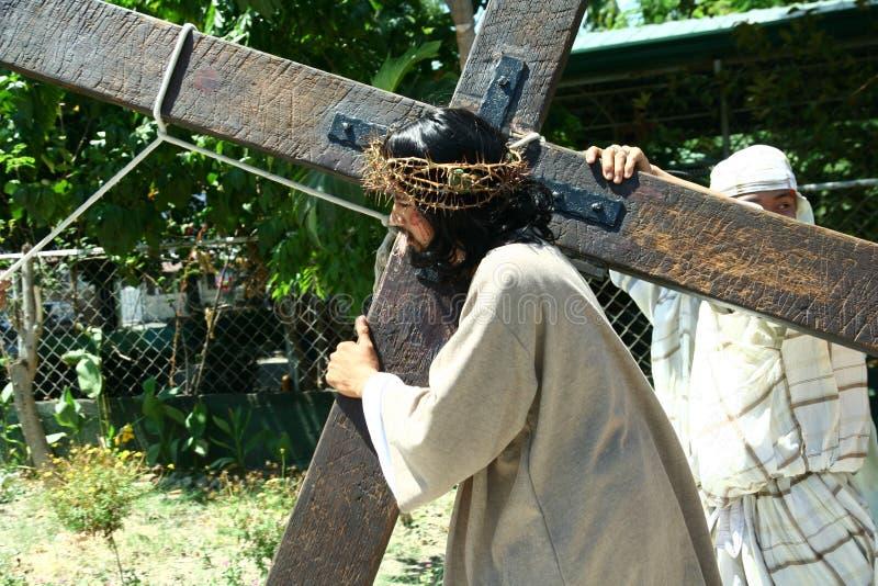 Wiederinkraftsetzung des Todes von Jesus Christ stockfotos