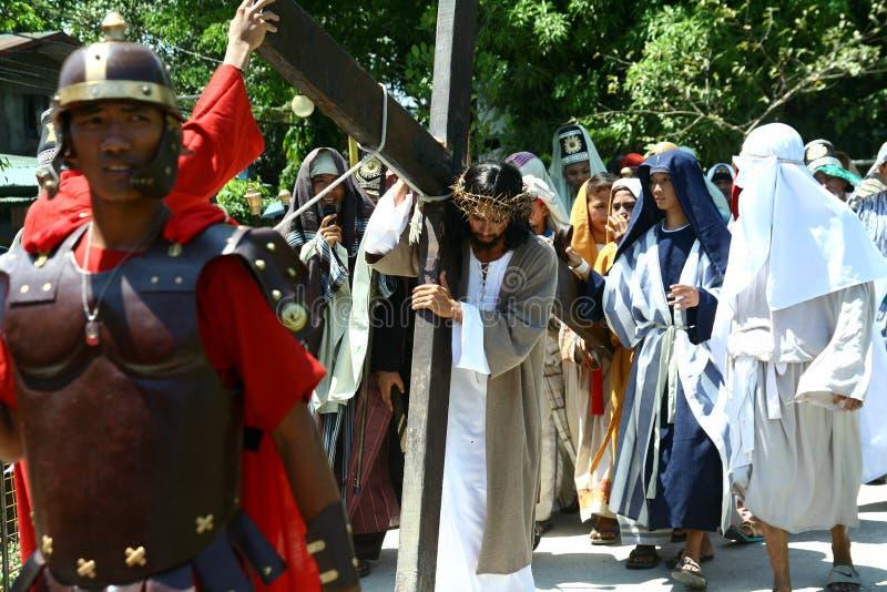 Wiederinkraftsetzung des Todes von Jesus Christ lizenzfreie stockfotos
