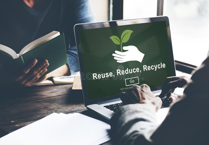 Wiederverwendung verringern aufbereiten Nachhaltigkeits-Ökologie-Konzept lizenzfreie stockfotografie