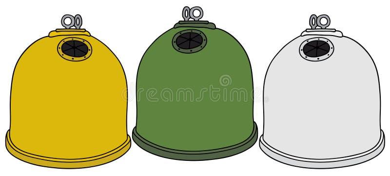 Wiederverwertung der Behälter stock abbildung