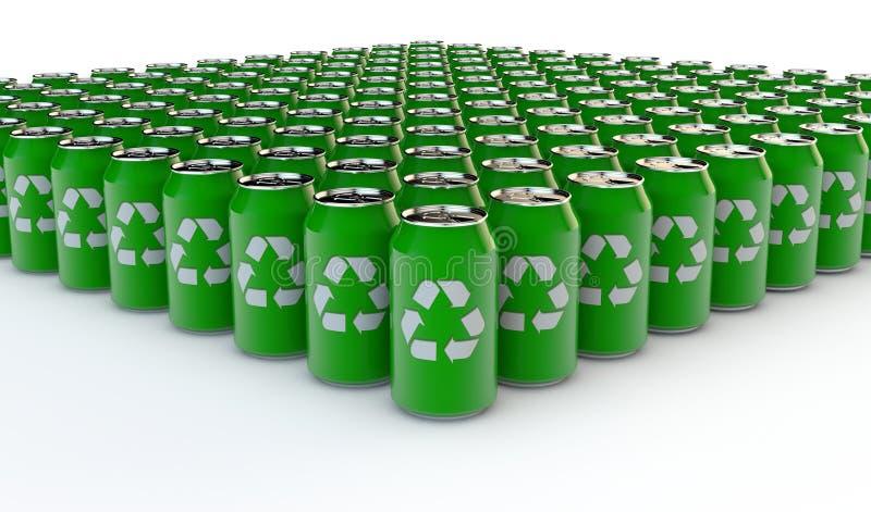 Wiederverwertung der Getränkflasche lizenzfreie abbildung