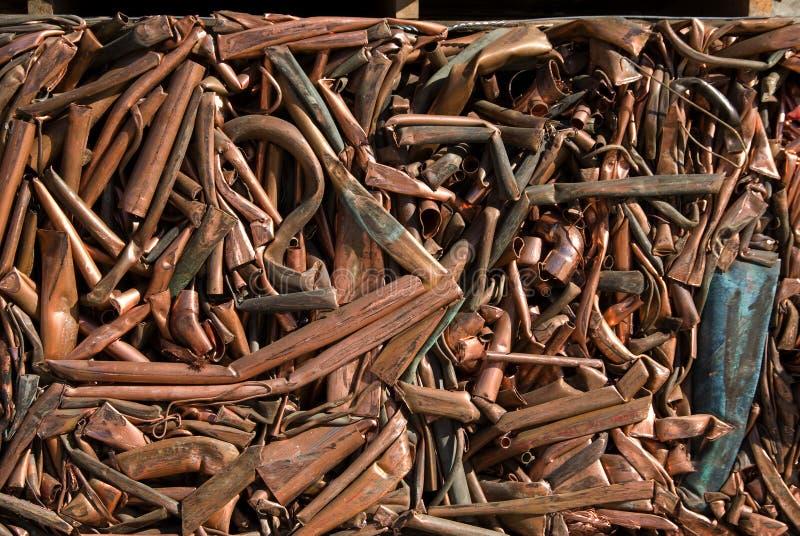 Wiederverwertung des Kupfers stockfotografie