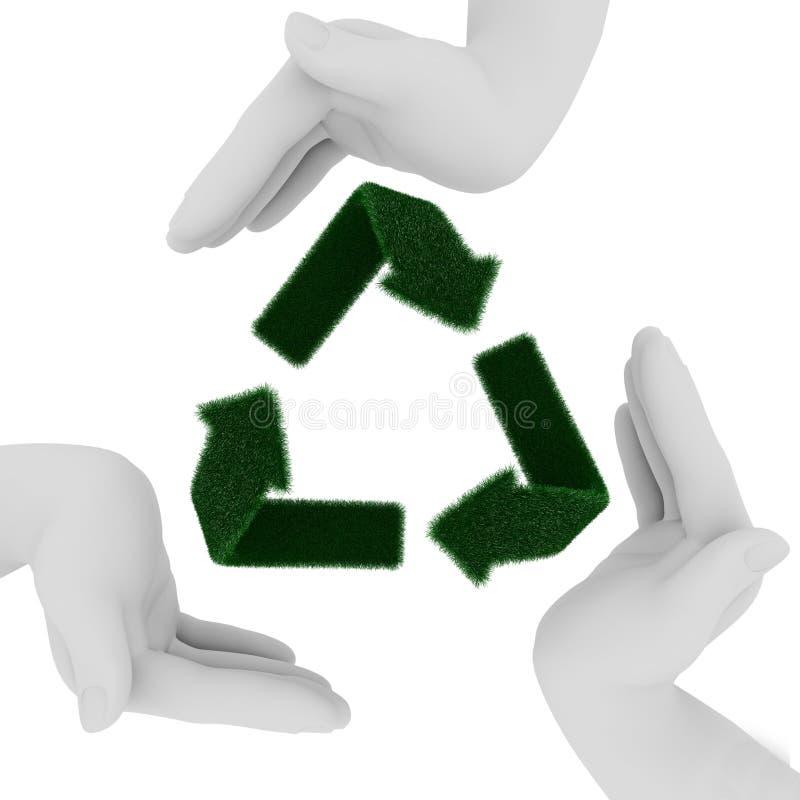 Wiederverwertung des Symbols stock abbildung