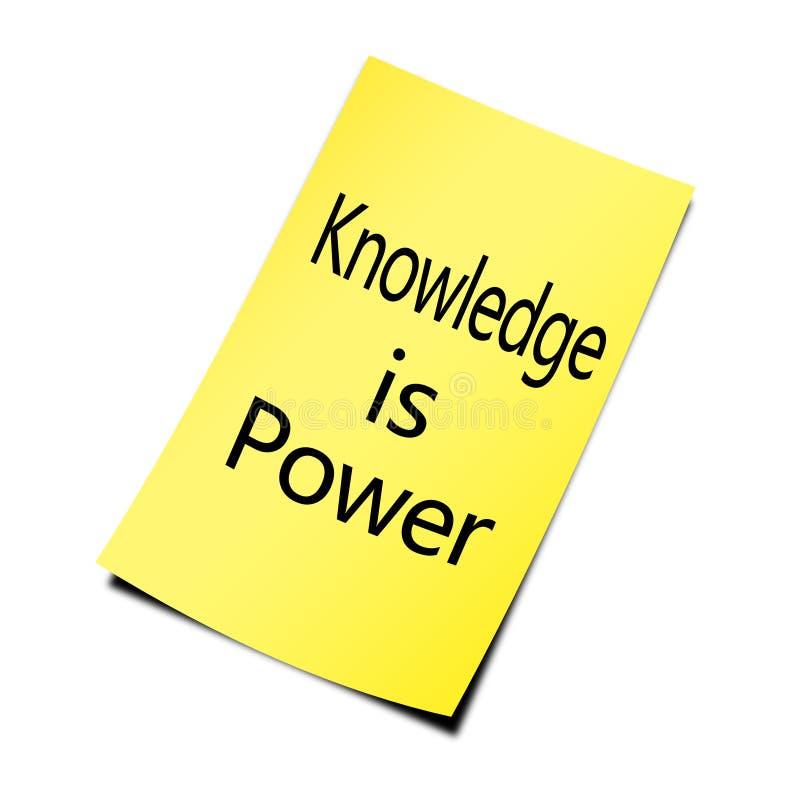 Wiedza władzą jest zdjęcia stock