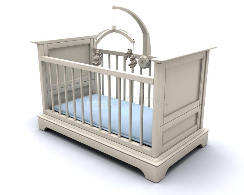 Wieg voor babyjongen stock illustratie