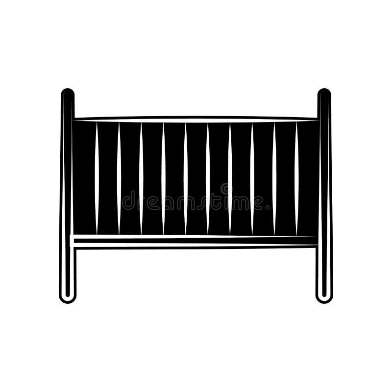 Wiege der Babyikone Element der Mutterschaft für bewegliches Konzept und Netz Appsikone Glyph, flache Ikone für Websiteentwurf un stock abbildung