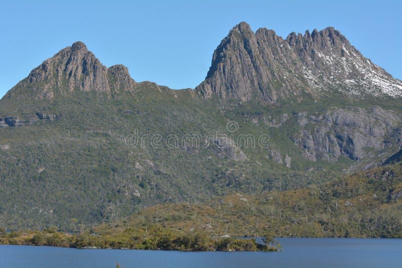 Wiegen-Berg-See-St. Clair National Park Tasmania Australia stockbilder