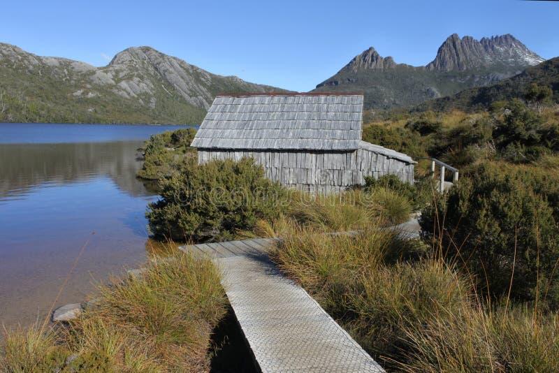 Wiegen-Berg-See-St. Clair National Park Tasmania Australia lizenzfreie stockfotografie