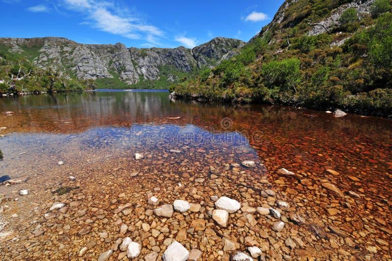 Wiegen-Gebirgsnationalpark, Tasmanien stockbild