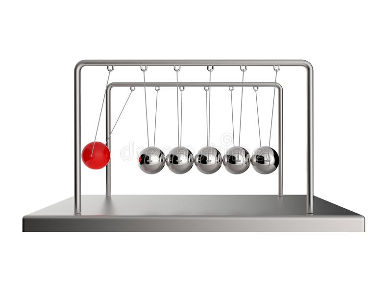 Wiegen-Pendel Newtons s stock abbildung