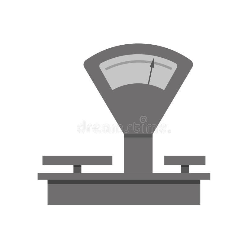 Wiegende Skalen der Weinlese vektor abbildung