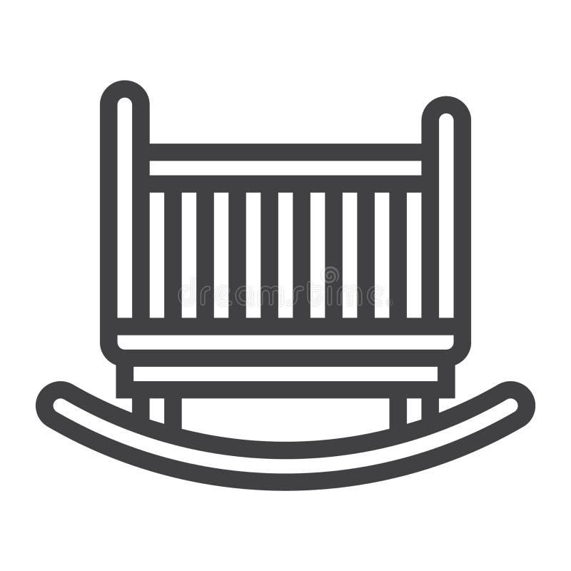 Wiegenlinie Ikone, Möbel und Innenraum vektor abbildung