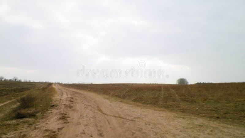 Wiejska droga, offroad w północnym Polska obraz royalty free