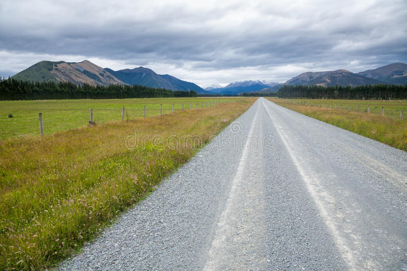 Wiejska droga w Nowa Zelandia zdjęcie royalty free