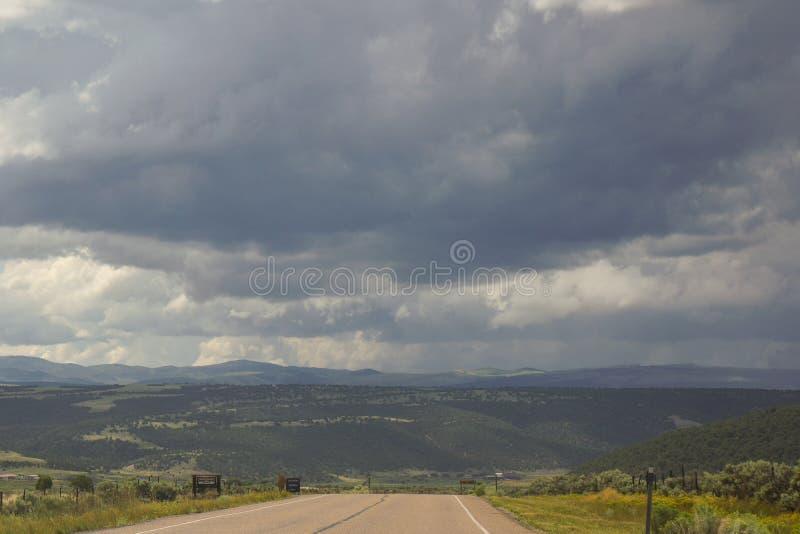 Wiejska droga w Utah obrazy royalty free