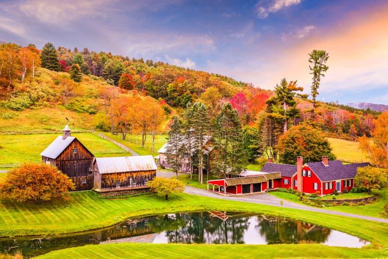 Wiejska jesień Vermont obrazy stock