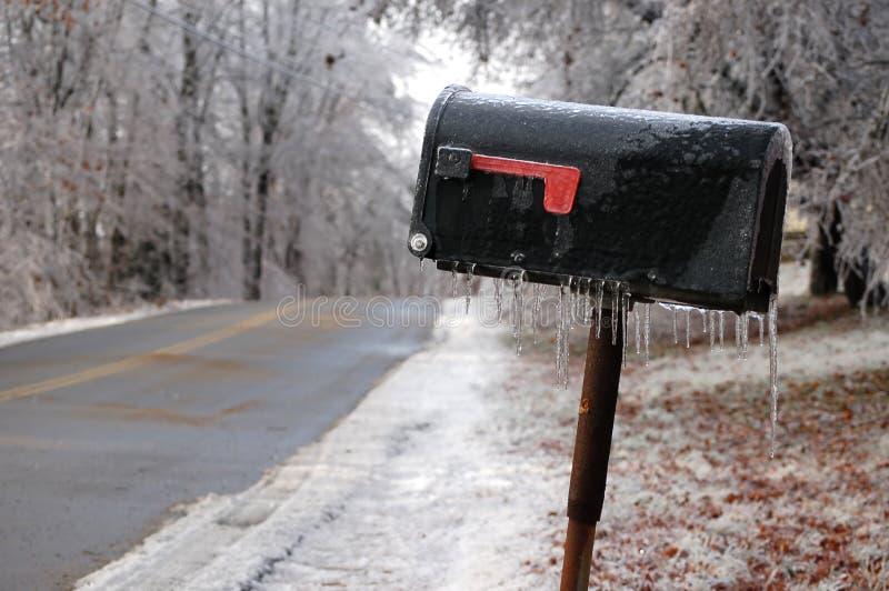 wiejska lodowata skrzynka pocztowa fotografia stock