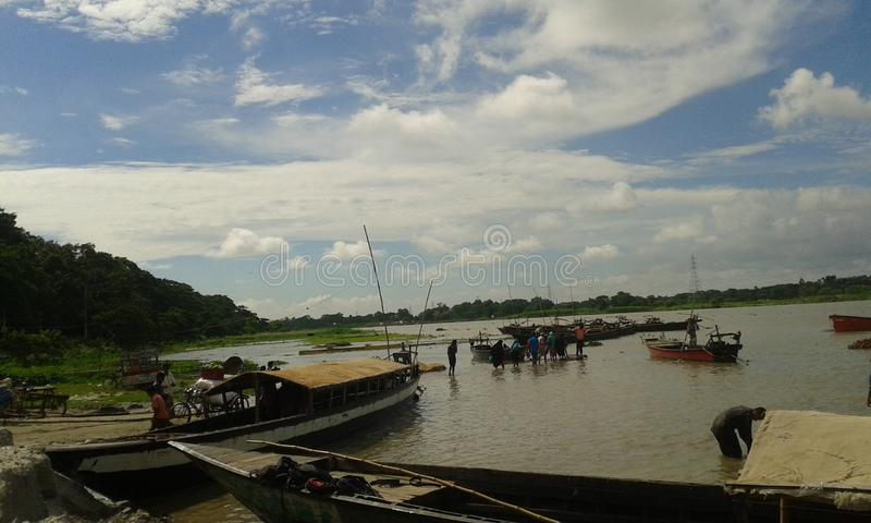 Wiejska rzeka obrazy stock