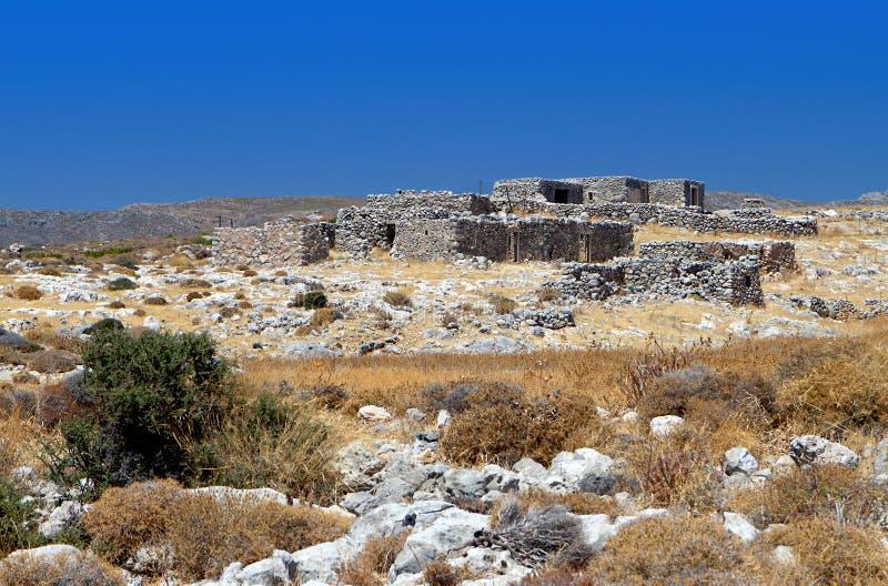 Wiejska sceneria przy Crete wyspą w Grecja zdjęcie royalty free