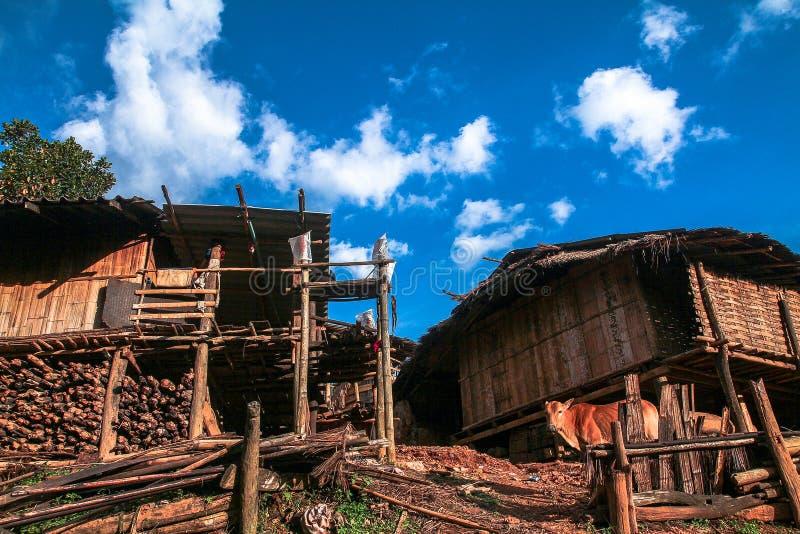wiejski chałupy drewno fotografia stock