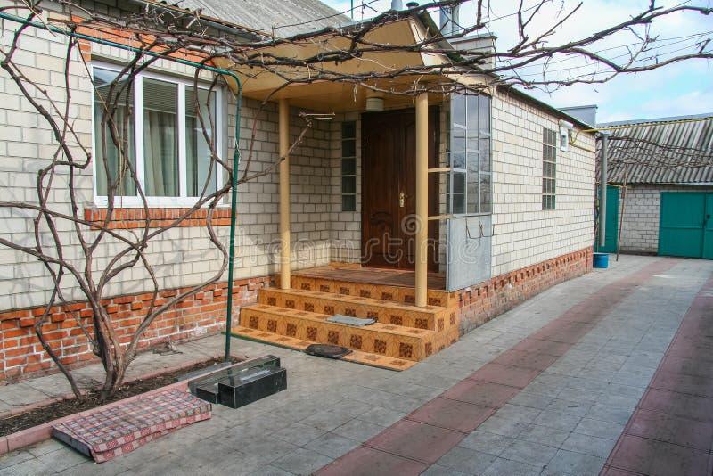 Wiejski dom i domostwo obraz stock