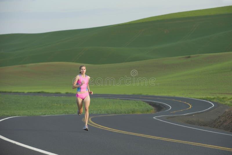 wiejski drogowy biegacz obrazy royalty free