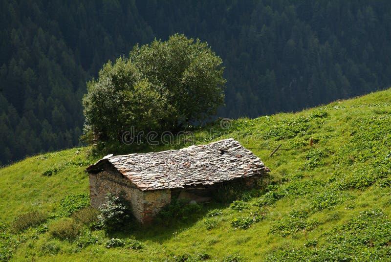 Wiejski góra dom obraz royalty free